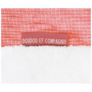 Doudou et compagnie - DC3712 - Tapidou mosaique corail/blanc - taille 100x100 cm (428104)