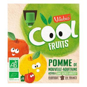 Vitabio - 02KCPO102 - Cool Fruits Pomme - gourdes de fruits - 4X90G (428316)