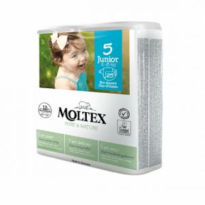 Moltex - 155555 - Pure et Nature - 25 Couches jetables Junior T5 11-25 kg (428644)