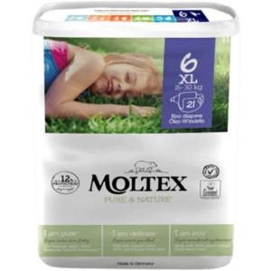 Moltex - 156555 - Pure et Nature - 21 Couches jetables XL - 16-30 kg (428650)