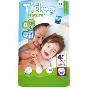 Tidoo - 06TCMAXP101 - Couches Écologiques Taille 4+  Large+ (9-20kg) 48 couches (428670)