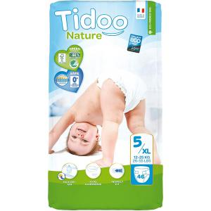 Tidoo - 06TCJUN101 - Couches Écologiques Taille 5 Xlarge (12-25kg) 46 couches (428672)