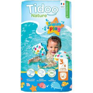 Tidoo - 602-500101 - 12 Couches De Bain Jetables Anti-fuites Pour Bébé Bio - T3  4-9kg (428674)