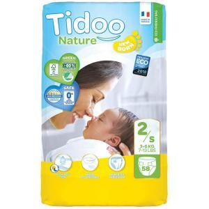 Tidoo - 602-113 - Couches Écologiques Nature T2 3-6 kg 58 couches (428676)
