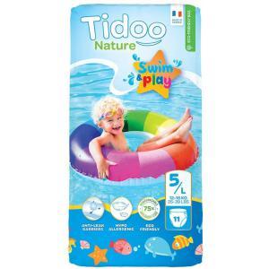 Tidoo - 602-520101 - Culottes De Bain Jetables Anti-fuites Pour Bébé Bio T5 11 culottes 12-18kg (428688)