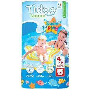 Tidoo - 602-510101 - Couches maillot de bain eco jetable Maxi T4 8 à 15 kg 12 couche (428692)