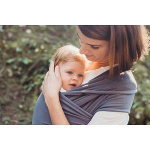 Boba - 42BEPBGA501 - Porte-bébé Boba Wrap, Organic Dark Grey, Echarpe porte-bébé extensible originale, parfait pour les nouveau-nés et les en (428770)