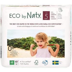 Eco By Naty - 06NCAJT5101 - Couches-culottes écologiques Premium Taille 5, 20 couches, 12-18 kg (429380)
