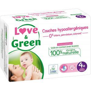 Love And Green - 06LGPJBMAXP101 - Couches Bébé Hypoallergéniques 0% - Taille 4+ (9-20 kg) (429950)