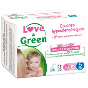 Love And Green - 06LGPJBJUN101 - Couches Bébé Hypoallergéniques 0% - Taille 5 (11-25 kg) (429954)