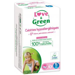 Love And Green - 05LGCAJ5101 - Pack de 18 Culottes Hypoallergéniques - Taille 5 (12-25 kg) (429956)