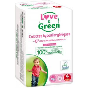 Love And Green - 05LGCAJ4101 - Culottes Hypoallergéniques 20 Culottes Taille 4 (8-15 kg) (429960)