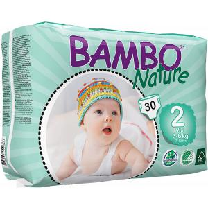 Bambo Nature - 06BNCJMIN101 - Couches jetables écologiques Mini T2 (3-6 kg) - 30 couches (430112)