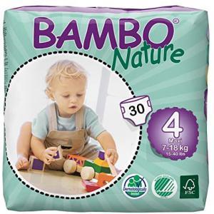 Bambo Nature - 06BNCJMAX101 - Couches jetables écologiques Maxi T4 (7-18 kg) 30 couches (430120)