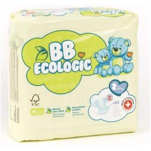 Bb Ecologic - BBECO02 - BB ECOLOGIC - 32 Couches jetab BB ECOLOGIC - 32 Couches jetab (430124)