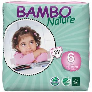 Bambo Nature - 06BNCJXLP101 - Couches jetables écologiques T6 XL (16-30 kg) 22 couches (430140)