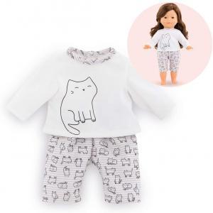 Corolle - 211380 - Les Tenues Complètes Ma Corolle pyjama 2 pièces chats - age 4+ (430520)