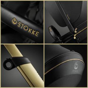 Stokke - BU207 - Poussette Xplory® 6 Gold pack avec siège auto iZi Go Modular X1 Noir (432680)