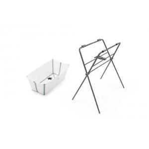 Stokke - BU214 - Flexi bath baignoire portative et support - Blanc-gris (432694)