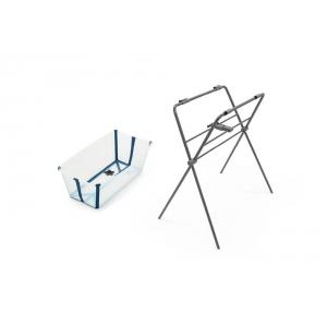 Stokke - BU216 - Flexi bath baignoire et son support - transparent blue (432698)