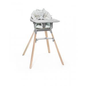 Stokke - BU225 - Chaise haute Clikk et coussin gris (432716)