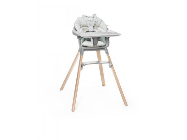 Chaise haute clikk et coussin gris