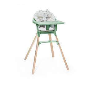 Stokke - BU226 - Chaise haute bébé Clikk vert et coussin (432718)