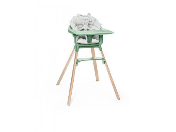 Chaise haute bébé clikk vert et coussin