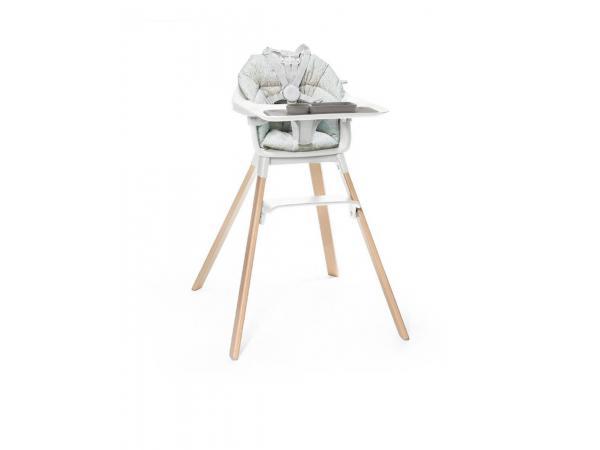 Chaise haute enfant clikk blanc avec coussin et ezpz set de table