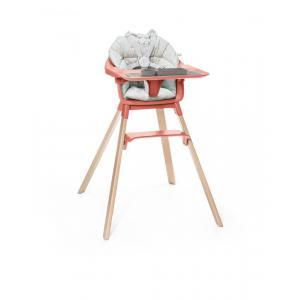 Stokke - BU228 - Chaise haute complet Stokke Clikk  avec coussin et ezpz set de table (432722)