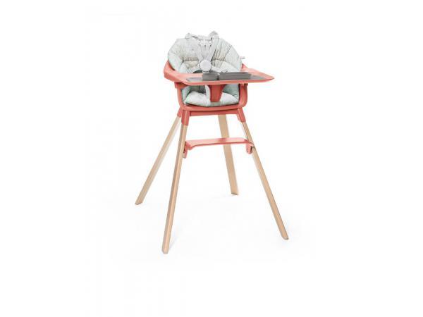 Chaise haute complet stokke clikk avec coussin et ezpz set de table