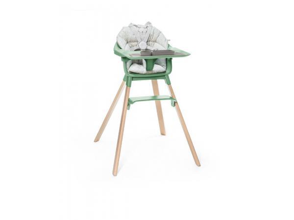 Chaise haute clikk, coussin et set de table ezpz