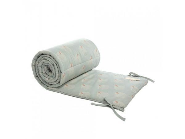 Tour de lit coton nest white gatsby/ antique green
