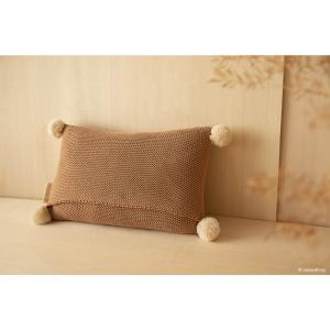 Nobodinoz - N114859 - Coussin tricotée BISCUIT (432818)