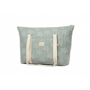 Nobodinoz - N113913 - Sac Maternité Paris WHITE GATSBY/ ANTIQUE GREEN (432896)