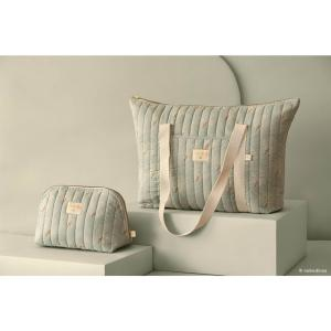 Nobodinoz - N113838 - Trousse de toilette Holiday WHITE GATSBY/ ANTIQUE GREEN (432904)
