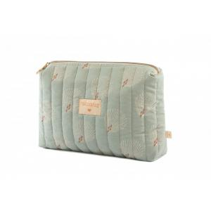Nobodinoz - N113876 - Trousse de toilette Travel WHITE GATSBY/ ANTIQUE GREEN (432912)