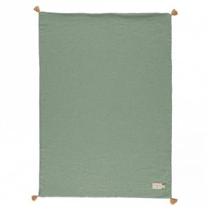 Nobodinoz - N114415 - Couverture légère Treasure TOFFEE SWEET DOTS/ EDEN GREEN (432932)
