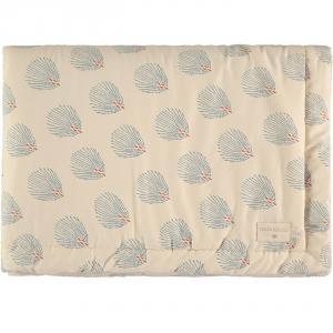Nobodinoz - N114101 - Couverture bébé Laponia BLUE GATSBY/ CREAM (432946)
