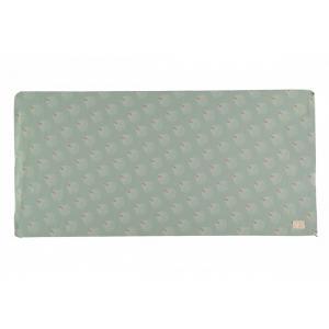 Nobodinoz - N114354 - Matelas de sol St Bart WHITE GATSBY/ ANTIQUE GREEN (432964)