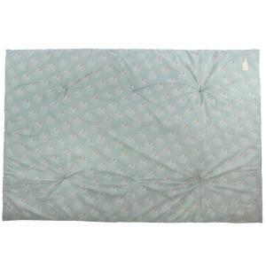 Nobodinoz - N114330 - Futon Eden WHITE GATSBY/ ANTIQUE GREEN (432968)