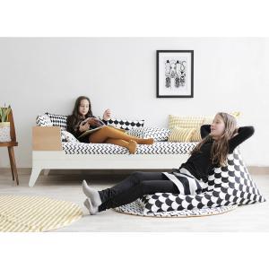 Nobodinoz - N110882 - Pouf haricot Essaouira GOLD STELLA/ DREAM PINK (432988)