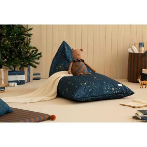 Nobodinoz - N110912 - Pouf haricot Essaouira GOLD STELLA/ NIGHT BLUE (432990)