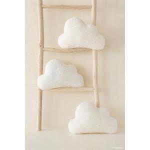 Nobodinoz - N114712 - Coussins Cloud HONEY SWEET DOTS NATURAL (433024)