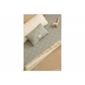 Nobodinoz - N114217 - Coussins Laurel WHITE GATSBY/ ANTIQUE GREEN (433034)