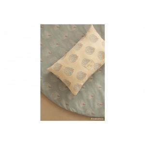 Nobodinoz - N114200 - Coussins Laurel BLUE GATSBY/ CREAM (433036)