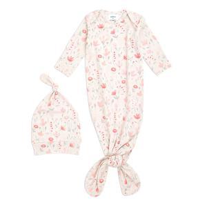 Aden and Anais - AGHK20003 - Coffret cadeau bébé grenouillère nouée et bonnet fleurie (436424)