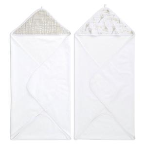 Aden and Anais - EHTC20007B - Aden essentiels Capes de bain bébé Starry star, lot de 2 (436438)