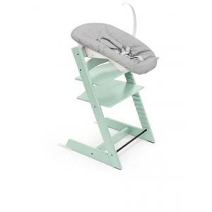 Stokke - BU344 - Chaise bébé Tripp trapp Soft mint avec newborn set pour nouveau-né (437128)
