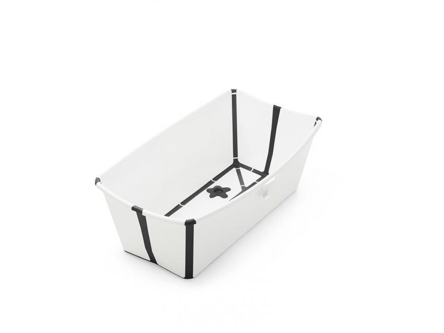 Stokke Flexi Bath Baignoire Pliable Blanc Noir